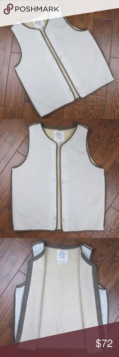 Mens All Saints Sahara Parka Vest Size 10 All Saints Spitafields Sahara Parka Vest Mens 10 Originally Retails for $195 Pre owned with minor signs of wear, but overall in great condition The vest is an open style vest with no button or zipper closure Length from shoulder seam to bottom hem is 30.5 inches Bust from pit to pit while vest is 'closed' is 25.5 inches  OFFERS ACCEPTED Add to a bundle for an automatic discount  Colors may vary due to lighting, seller does its best to portray the…