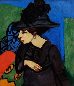 Ernst Ludwig Kirchner - Dodo with a Feather Hat, 1911.