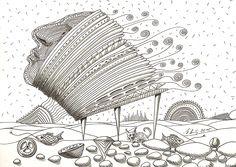 """""""desert day"""", #Zeichnung #Pigmenttusche (#PITT #artist #pen Faber-Castell ) auf #Hahnemühle #Papier """"Nostalgie"""", 190 g/m2 21 x 30 cm, © #matthias #hennig 2015    """"desert day"""", #india #ink #drawing (#PITT #artist #pen Faber-Castell ) on #Hahnemuehle #paper """"Nostalgie"""",190 g/sqm 21 x 30 cm, © #matthias #hennig 2015"""