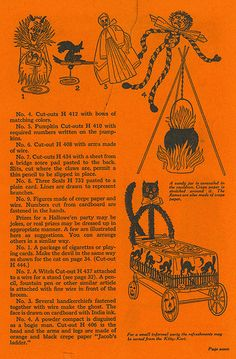 1926 Dennison Bogie Book How to Make Decorations Vintage Halloween Images, Retro Halloween, Halloween Ii, Holidays Halloween, Halloween Crafts, Happy Halloween, Halloween Decorations, Halloween Ideas, Halloween Goodies