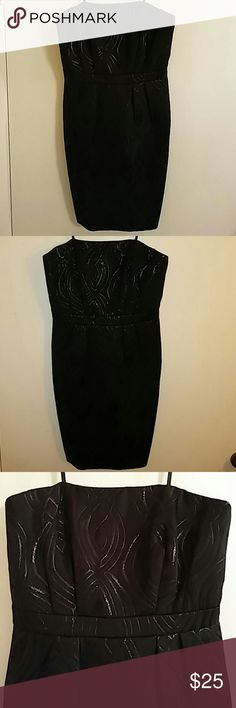 Target Limited Edition Black Dress Beautiful little black dress. Strapless, but what I love with this little black dress is it actually comes with a built in back strap (shown in picture 4) that will guarantee to hold this dress up as you dance the night away! As always, like new and is in excellent condition. ?? Target Limited Edition Dresses Mini
