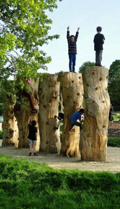 Dinton Pastures Nature Play Space, Wokingham, England by Davies White Landscape… Playground Design, Backyard Playground, Playground Kids, Landscape Architecture Design, Landscape Architects, Architecture Jobs, Architecture Foundation, French Architecture, Classical Architecture