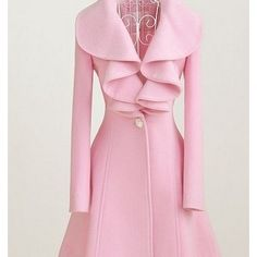 Pink Peacoat....I ❤ this, but maybe instead of in baby pink get one in more of a hot pink/fuchsia color!?!