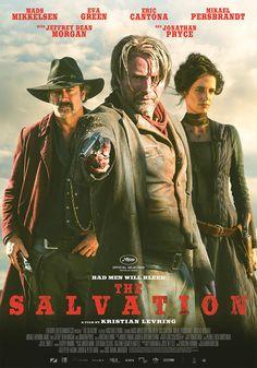 The Salvation, movie,Mads Mikkelsen, Jeffrey Dean Morgan, Eva Green, western,  poster