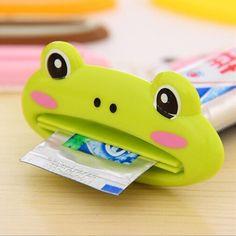 2 PCS Kawaii multifunções Animal bonito plástico de pasta de dente banho espremedor titular escova de dentes