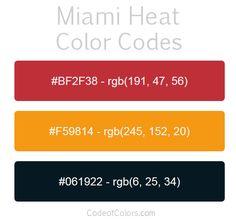 miami heat team color codes