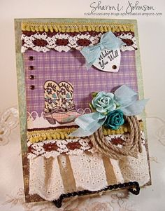 Western Romance -- fun for a change of pace.  Using items from The Stamp Simply Ribbon Store.