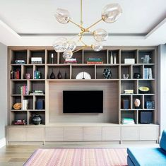 Top 70 Best TV Wall Ideas - Living Room Television Designs : Wood Bookcase With Decor Objects Excellent Interior Ideas Tv Wall Living Room Bookcase, Living Room Wall Units, Living Room Cabinets, Living Room Interior, Living Room Decor, Tv Wall Cabinets, Bedroom Decor, Decor Room, Kitchen Living