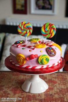 Check out this sweet-shop inspired cake (and win everything you need to make… Cake Shop Design, Cake Kit, Fairy Cakes, Types Of Cakes, Cake Decorating Techniques, Biscuits, Food Festival, Yummy Eats, C'est Bon