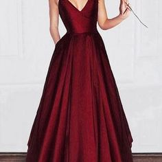 cd9a1b11032 SexyPromDress on Storenvy. Red Satin Prom DressFull GownEngagement ...