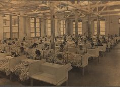 Section of mending department, Berkshire Knitting Mills. Hagley Digital Archives.