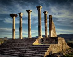 Volubilis Earth Powers, Bled, Volubilis, Moroccan Art, Amazing Sunsets, Marrakesh, North Africa, Heritage Site, Ancient Art