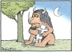 """I cry a lot because I miss people. They die and I can't stop them. They leave me and I love them more."" ― Maurice Sendak  Editorial Cartoon from Bob Englehart, Hartford Courant"