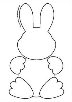 Easter bunny templates: fun cutouts and resource activities . - Easter bunny templates: fun cutouts and FREE easter resource activities bunny - Easter Projects, Easter Crafts For Kids, Toddler Crafts, Easter Bunny Template, Bunny Templates, Easter Templates, Easter Printables, Bunny Crafts, Felt Crafts