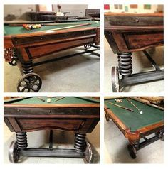 VINTAGE INDUSTRIAL POOL TABLE, BAR, PATIO, KITCHEN ISLAND LIGHTING,  EXTERIOR | Pool Table Options | Pinterest | Vintage, Industrial And Pools