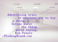 Are you focusing on advertising or designing? #quote #brand #branding #marketing