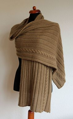 Ravelry: Cabled Rib Wrap pattern by Kristin Spurkland