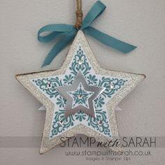 Stampin' Up! Bright & Beautiful, ornament, star2
