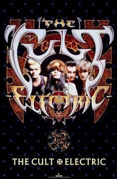 The Cult Electric POSTER 1987 Ian Astbury Rare LARGE | eBay
