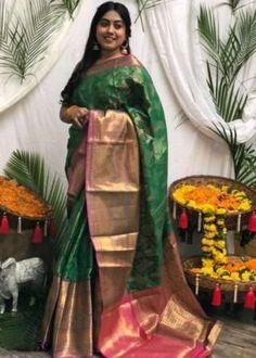 Sarees Online | Buy Sarees Online |@ ibuyfromindia.com Latest Silk Sarees, Art Silk Sarees, Green Saree, Pink Saree, Silk Sarees With Price, Banarsi Saree, Traditional Sarees, Traditional Design, Silk Sarees Online