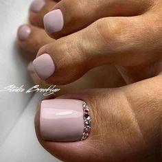 Nails gel, we adopt or not? - My Nails Glitter Toe Nails, Gel Toe Nails, Feet Nails, Toe Nail Art, My Nails, Gel Toes, Pretty Toe Nails, Cute Toe Nails, Cute Acrylic Nails