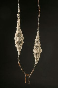Sam Tho Duong  Necklace: Frozen 2011  Small fresh water pearls, oxidized silver, nylon