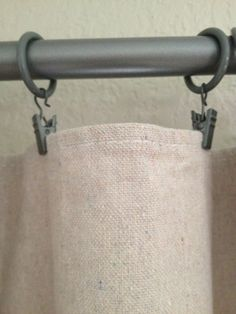 Hey! This was MY idea long before Pinterest! Canvas Drop Cloth Curtains