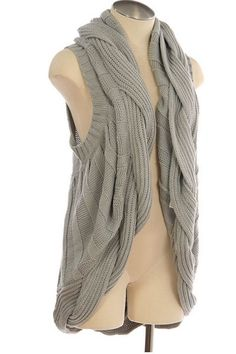 If I still worked I'd be sporting this light-grey-cardi....cute!