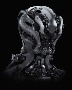 Robot by Carlos Alberto Cyberpunk Character, Cyberpunk Art, Cyberpunk 2020, Cyberpunk Fashion, Robot Concept Art, Armor Concept, Robot Design, Helmet Design, Arte Robot