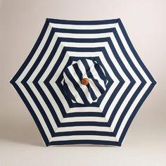 One of my favorite discoveries at WorldMarket.com: Cafe Stripe 5' Umbrella Canopy