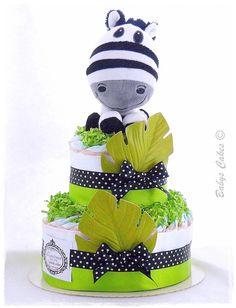 Gateau de couches Little Marcel diaper cake - Babys Cakes