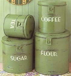 145 Best Green Canisters images | Canisters, Canister sets ...