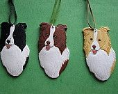Border Collie ornaments for all the colors.