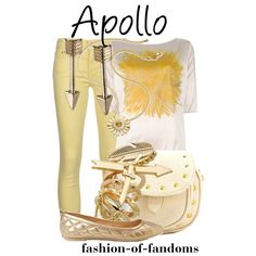 Outfit inspired by Apollo from Rick Riordan's Percy Jackson and the Olympians series