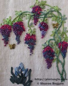 Wonderful Ribbon Embroidery Flowers by Hand Ideas. Enchanting Ribbon Embroidery Flowers by Hand Ideas. Embroidery Designs, Hand Embroidery Stitches, Crewel Embroidery, Embroidery Thread, Cross Stitch Embroidery, Embroidery Techniques, Embroidery Tattoo, Embroidery Supplies, Hand Stitching