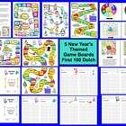 $2.95 New Year's Sight Words Literacy Centers Game Board Activities – 5 Different Game Boards -  21 Page download - 5 different Winter themed game boar...