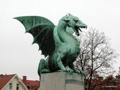 Dragon bridge in Ljubljana, Slovenia