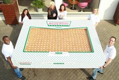To celebrate their new donut delivery services (WAIT -- WHAT?) Krispy Kreme baked up a special double hundred dozen box of their original glazed donuts. That's donuts. Krispy Kreme Uk, Picnic Blanket, Outdoor Blanket, Weird News, What's Trending, Funny Photos, Awkward Pictures, Funny Jokes, Haha
