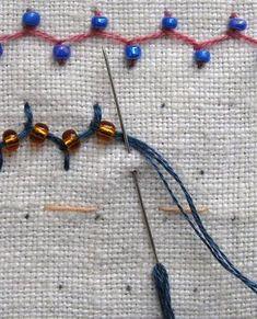stitch with beads