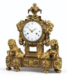 GILT-BRONZE MANTEL CLOCK, LOUIS XVI, THE DIAL SIGNED CARANDA / A VERSAILLES   sotheby's pf1601lot8d9tven
