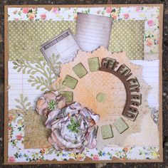 Botanical paperpad by Joy!Crafts and the Tiny Words and Viewmaster dies