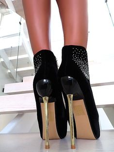 9b0c2cdfe469da Black Boots Ankle Boots Women  Shoes Ankle Boots Stiletto High Heels New . Schwarze  StiefelHalbschuheDamen ...
