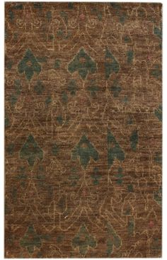 Aguada Agonda Hand Knotted Hemp Ikat Brown Rug, Item #: 200KCHI01A-P. Hand-knotted hemp.      Gingee Hand Knotted Hemp Ikat  $1040 - $1853 $208 - $371