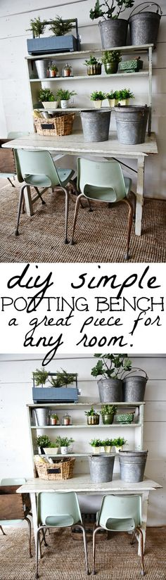 DIY potting bench -