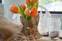 Burlap Bags  & Mason Jar Favors-diy