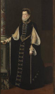 "Atribuido a Sofonisba Anguissola. ""Isabel de Valois sosteniendo un retrato de Felipe II"" (1561 - 1565)"