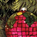 Mosaic Holly Ornament