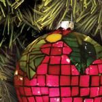 Mosaic Holly Ornament