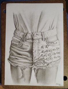 art, cute, drawing, girly, jeans, painting, shorts, studs, dencsi anna