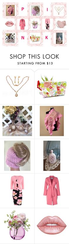 P I N K by bscozycottagecrafts on Polyvore featuring MaxMara, Lime Crime, LSA International and Avon
